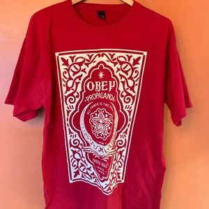 Obey All Power to People T Shirt